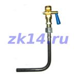 Закладная конструкция ЗК14-2-2-02 уст.1б-У 1,6-70-Ст.20-МУ(11Б38бк) отборное устройство давления угловое на t до 70°С усиленное бобышкой, Pу1,6МПа