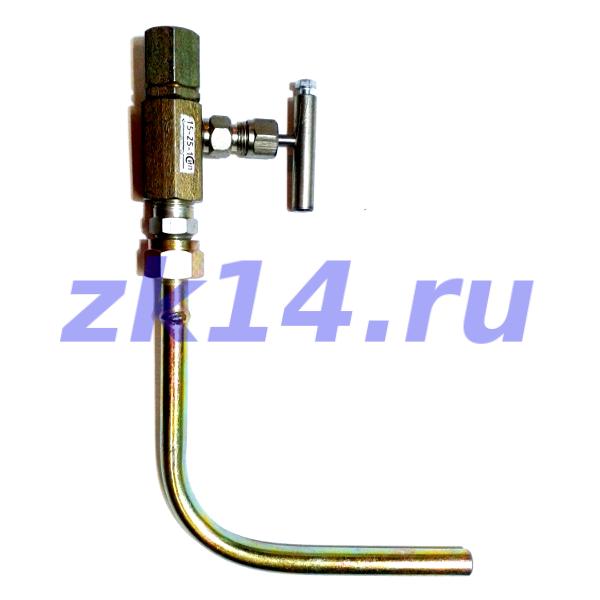 Закладная конструкция ЗК14-2-2-02 уст.2б-2У 16-70-Ст.20-МУ(15с54бк) отборное устройство давления угловое на t до 70°С усиленное бобышкой, Pу16МПа