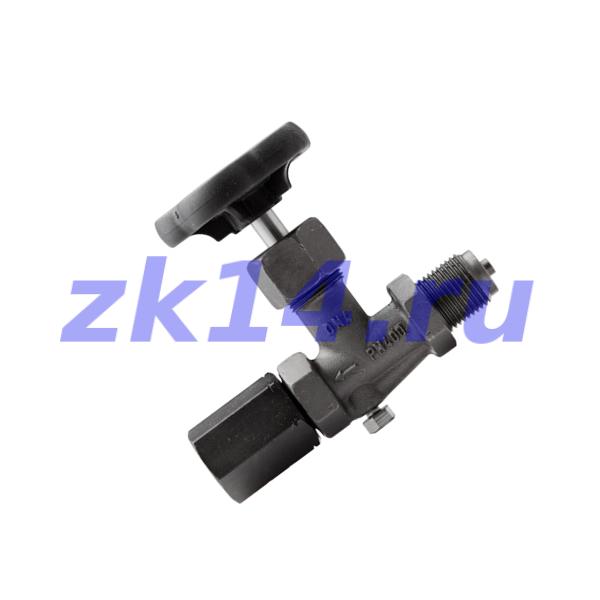 """Клапан игольчатый тип А S004.16.100 G1/2""""(В)/G1/2""""(Н) Ру40 МПа, углерод.сталь"""