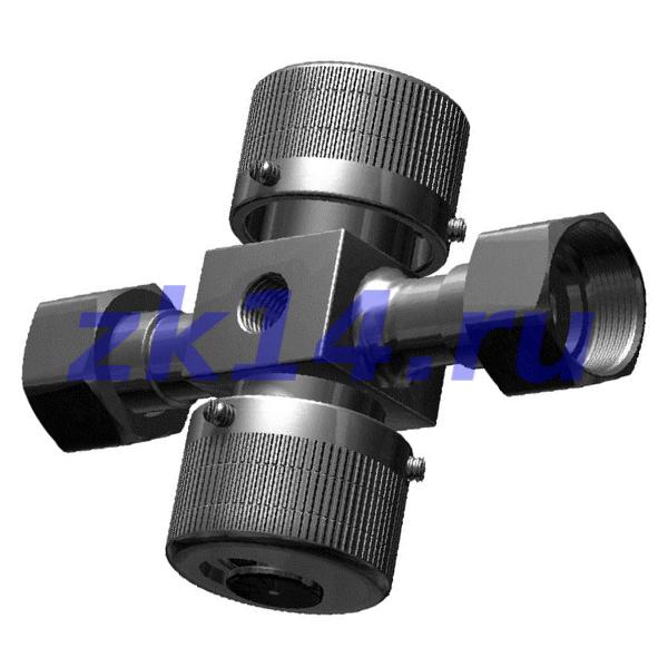 Клапан 3-х ходовой стальной для манометра КМ 1.00 PN1,6МПа, Ду15, муфта/муфта М20х1,5/М20х1,5
