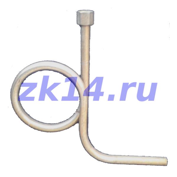 225-МУ Трубка петлевая (Перкинса) угловая, плечо 140мм в сторону от петли