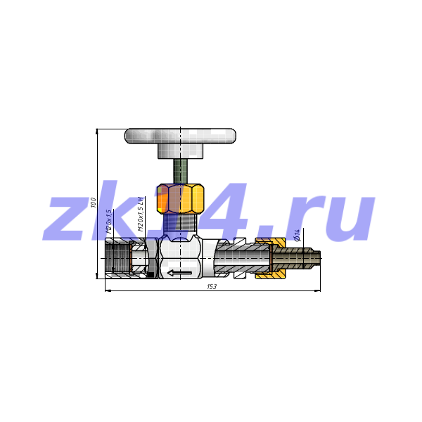 Отборное устройство давления прямое 25-200П-НМ-Ст.20(15с54бк)