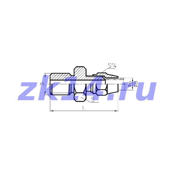 Соединения медных труб с развальцовкой, ввертное СМВ6хМ20х1,5