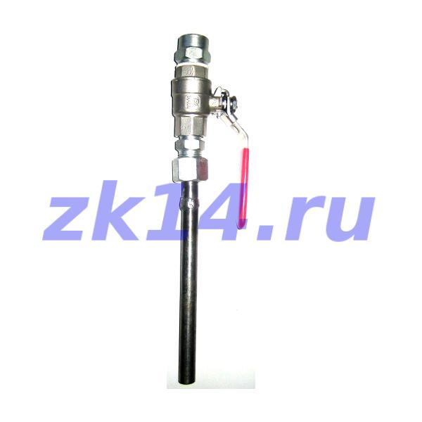 Отборное устройство давления с шаровым краном прямое на t свыше 70°С