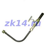 Закладная конструкция ЗК14-2-9-2009 отборного устройства давления на t до 70 гр.С с муфтовым клапаном для установки рабочего и контрольного манометра. Установка на вертикальном трубопроводе или стенке аппарата.