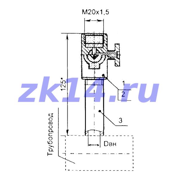 Закладная конструкция ЗК14-2-1-2009 МК1,6-80П-отборное устройство давления прямое