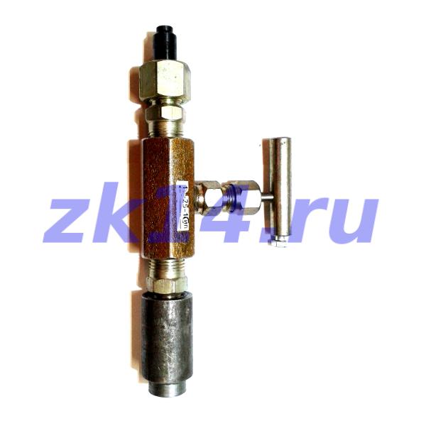 Закладная конструкция ЗК14-2-5-02 уст.6-7/4 16-100-Ст.20-Л(15с54бк) отборное устройство давления для подключения импульсной линии Ф14мм